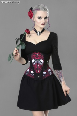 Gorset underbust deadly rose