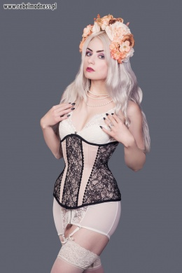 Gorset underbust longline light lace