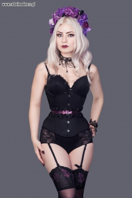 Gorset underbust midnight rose