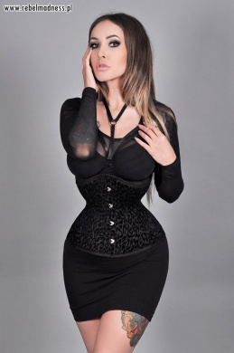 Gorset underbust mini black panther