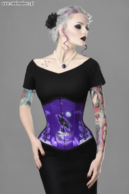 Gorset underbust purple night