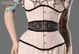 Gorset underbust sheer flower
